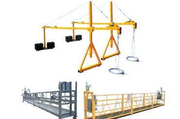 2 * 2.5m aluminium elektrokabel opgeschort platform met motormacht 1.5kw