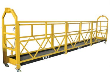 staal / heet gegalvaniseerd / aluminiumkabel opgeschort platform 1.5kw 380v 50hz