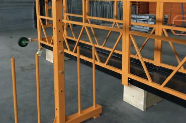 eenfasig opgehangen staalkabelplatform 800 kg 1.8 kw, hefsnelheid 8 -10 m / min