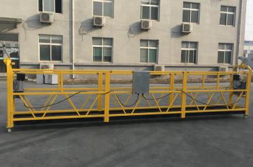 gecertificeerde zlp630 aluminium elektrische ophanggondel voor constructie