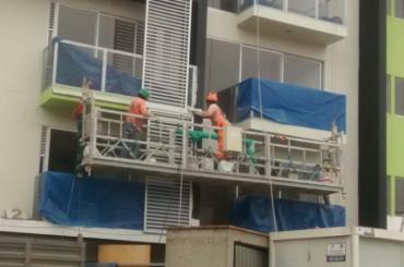 bouw onderhoud touw hangend platform met takel ltd8.0 zlp800